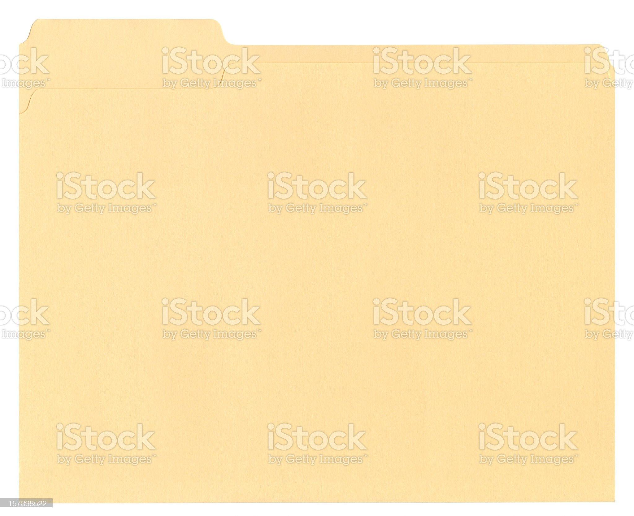 Manila file folder on white background royalty-free stock photo