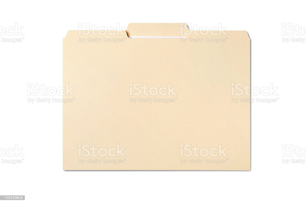 Manila File Folder royalty-free stock photo
