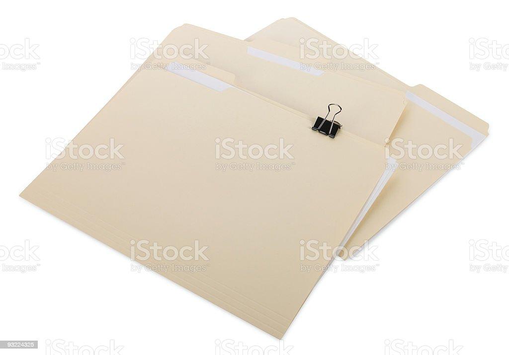 Manila File Folders royalty-free stock photo