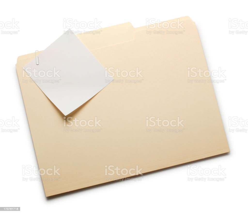 manila folder royalty-free stock photo