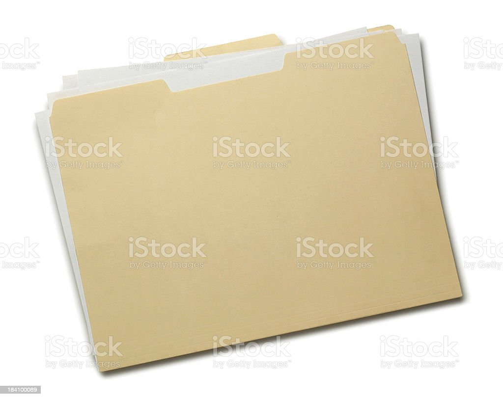 Manila Folder royalty-free stock photo