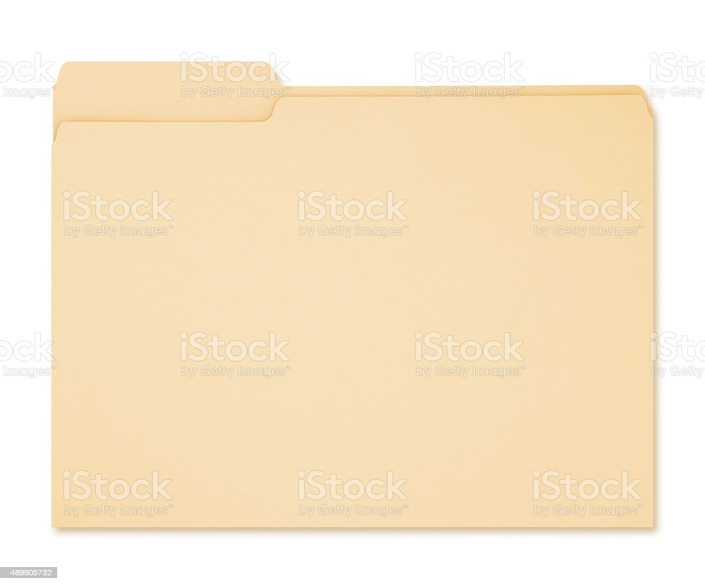 Manila Folder (with path) stock photo