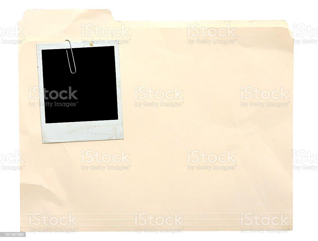 Manila Folder  with Photo stock photo