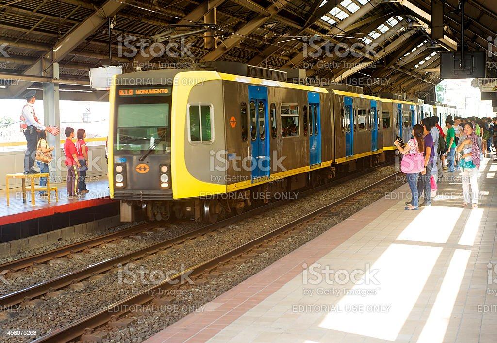 Manila Light Rail Transit royalty-free stock photo