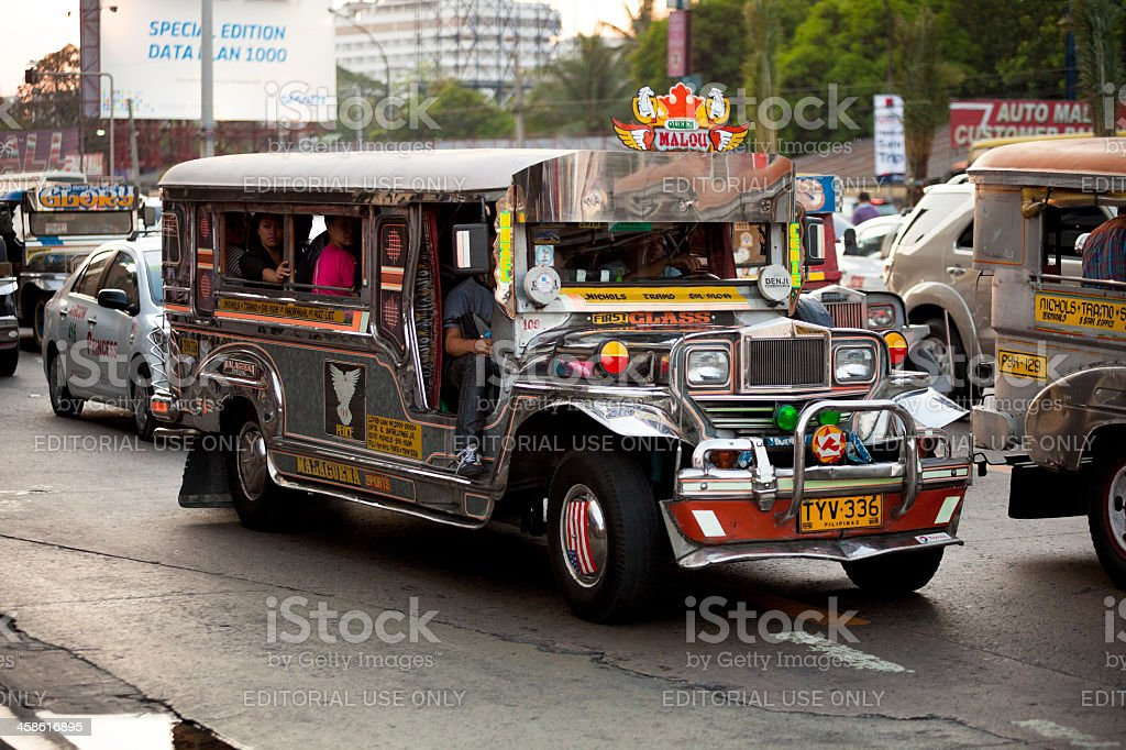 Manila, Philippines - Jeepney Traffic royalty-free stock photo