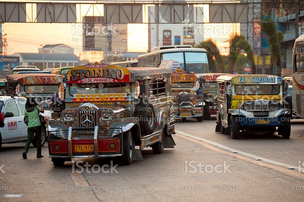 Manila, Philippines - Jeepney Traffic stock photo