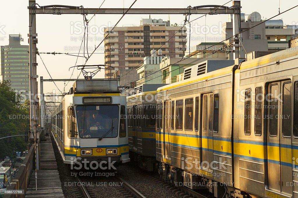 Manila, Philippines: LRT light rail transit system stop royalty-free stock photo