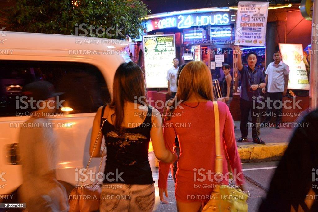 Manila popular bar, LA Cafe Philippines stock photo