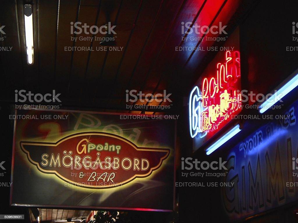 Manila popular bar, G Point Smorgasbord Philippines stock photo