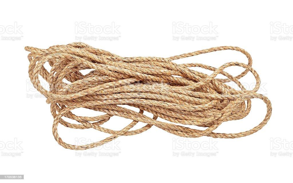 Manila rope royalty-free stock photo
