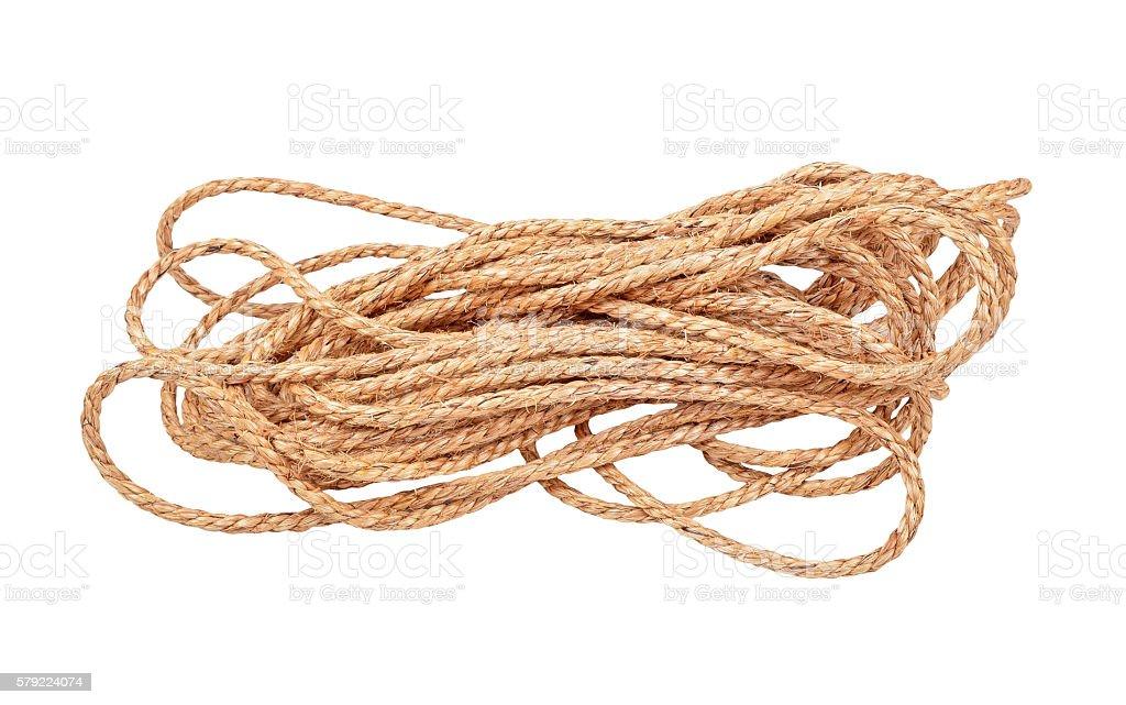 Manila rope stock photo