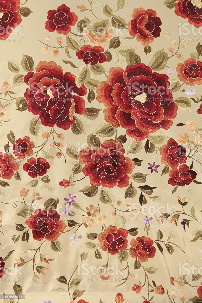 Mantón de Manila shawl stock photo