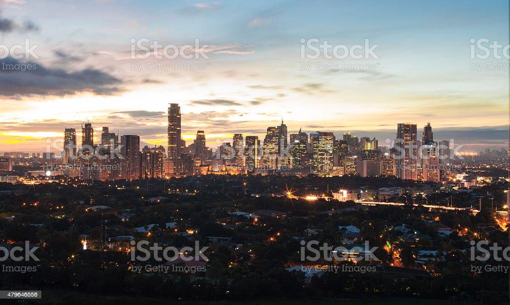 Manila skyline, Philippines stock photo