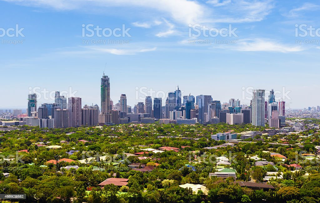 Manila skyline, Philippines stock photo