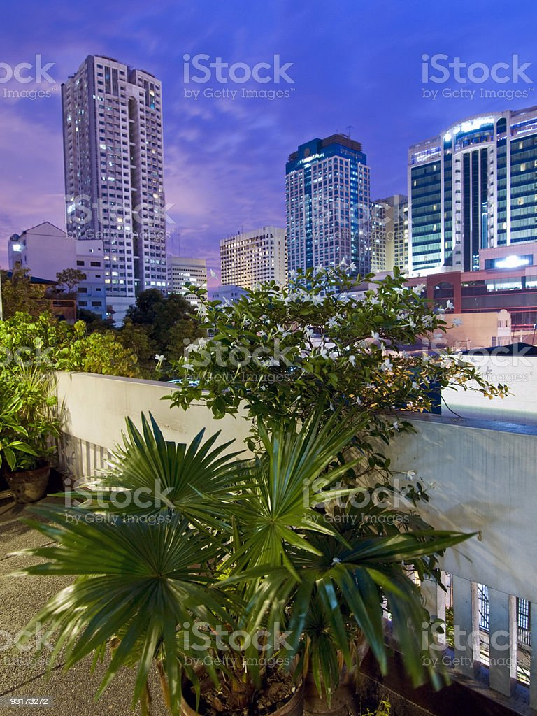 Manila Skyline royalty-free stock photo