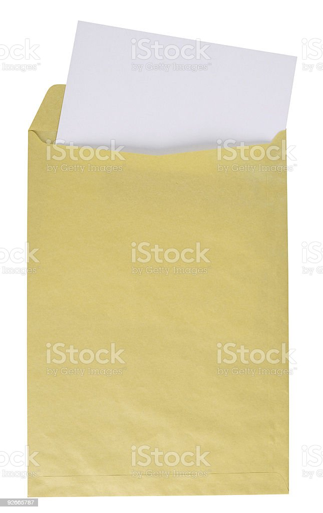 Manilla envelope. Clipping path. royalty-free stock photo