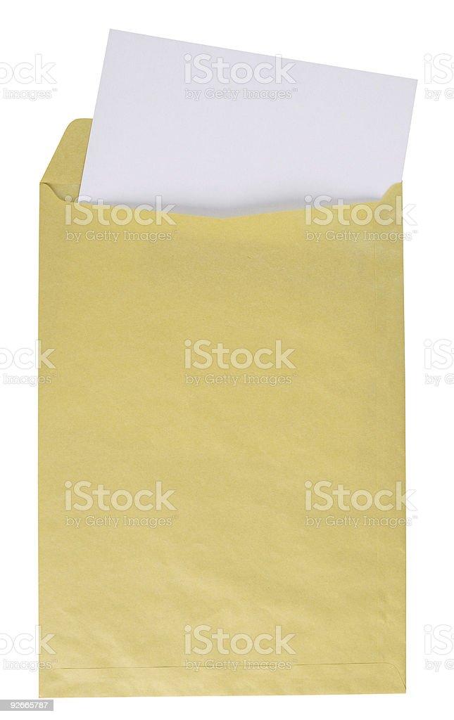 Manilla envelope. Clipping path. stock photo