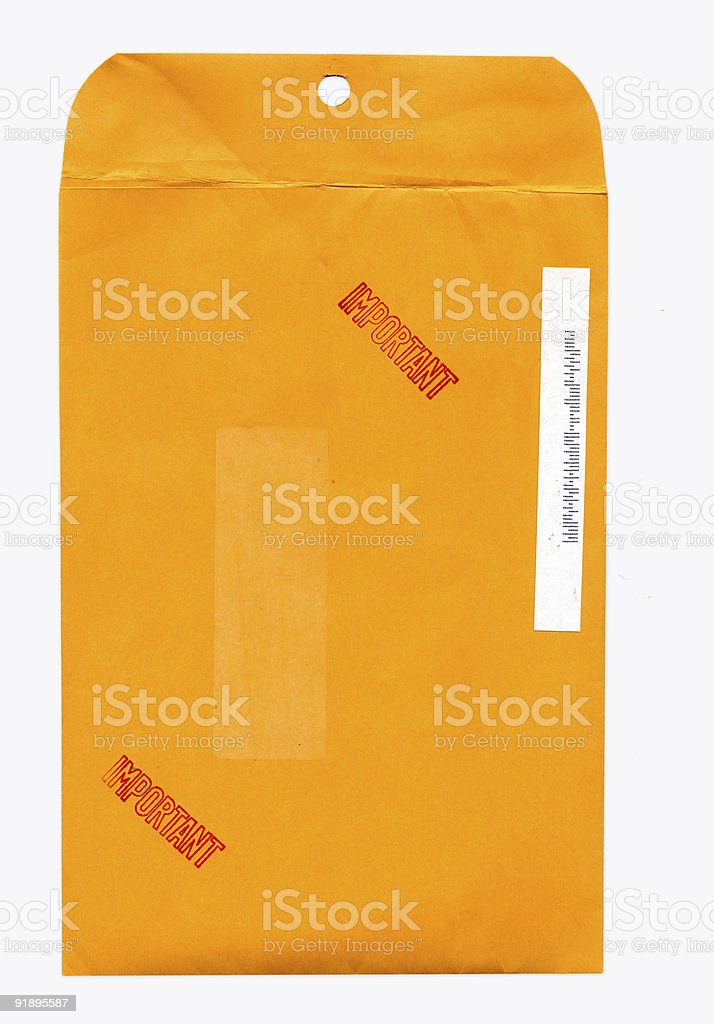 Manilla Envelope stock photo