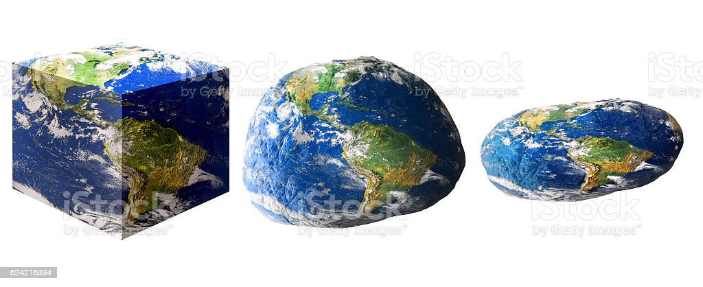 manipulated  world shapes stock photo