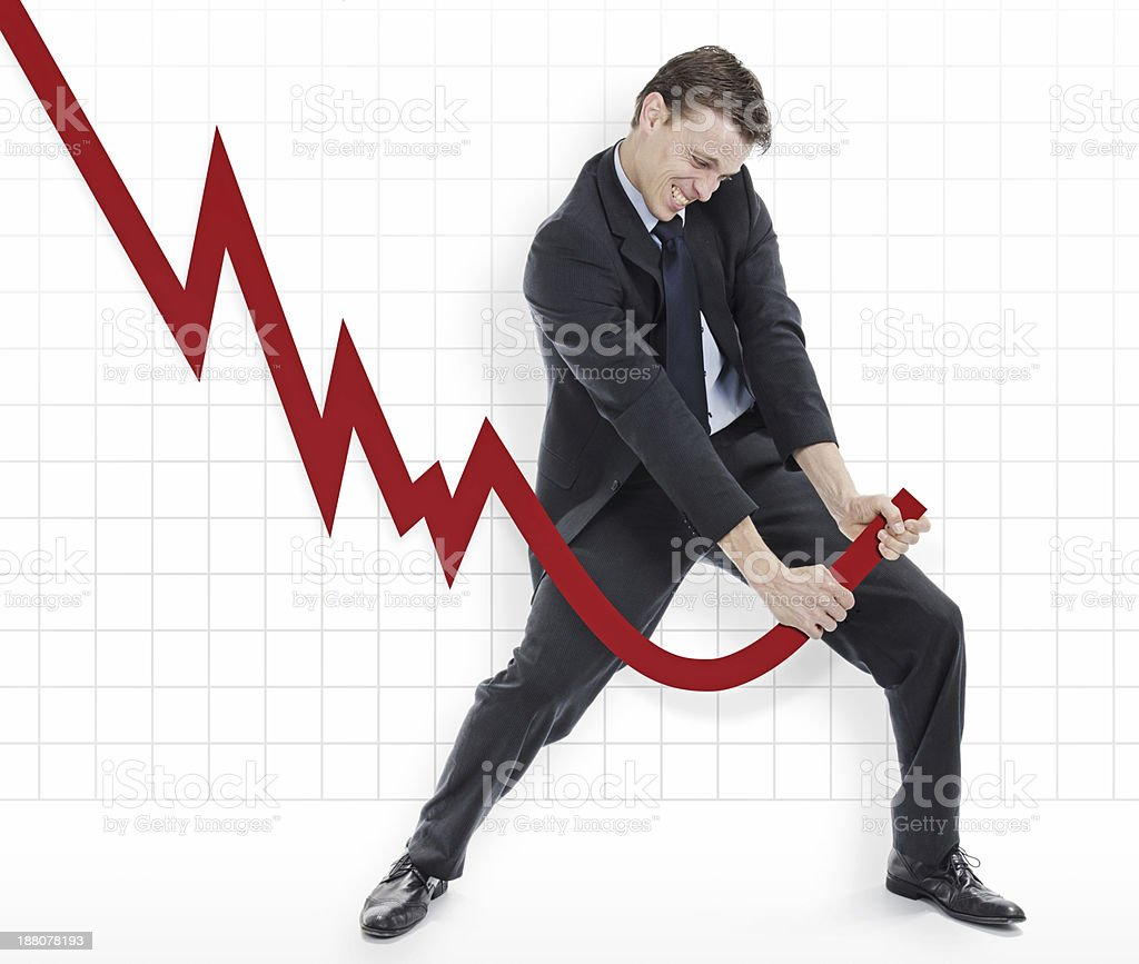 Manipulating the losses or outcomes stock photo
