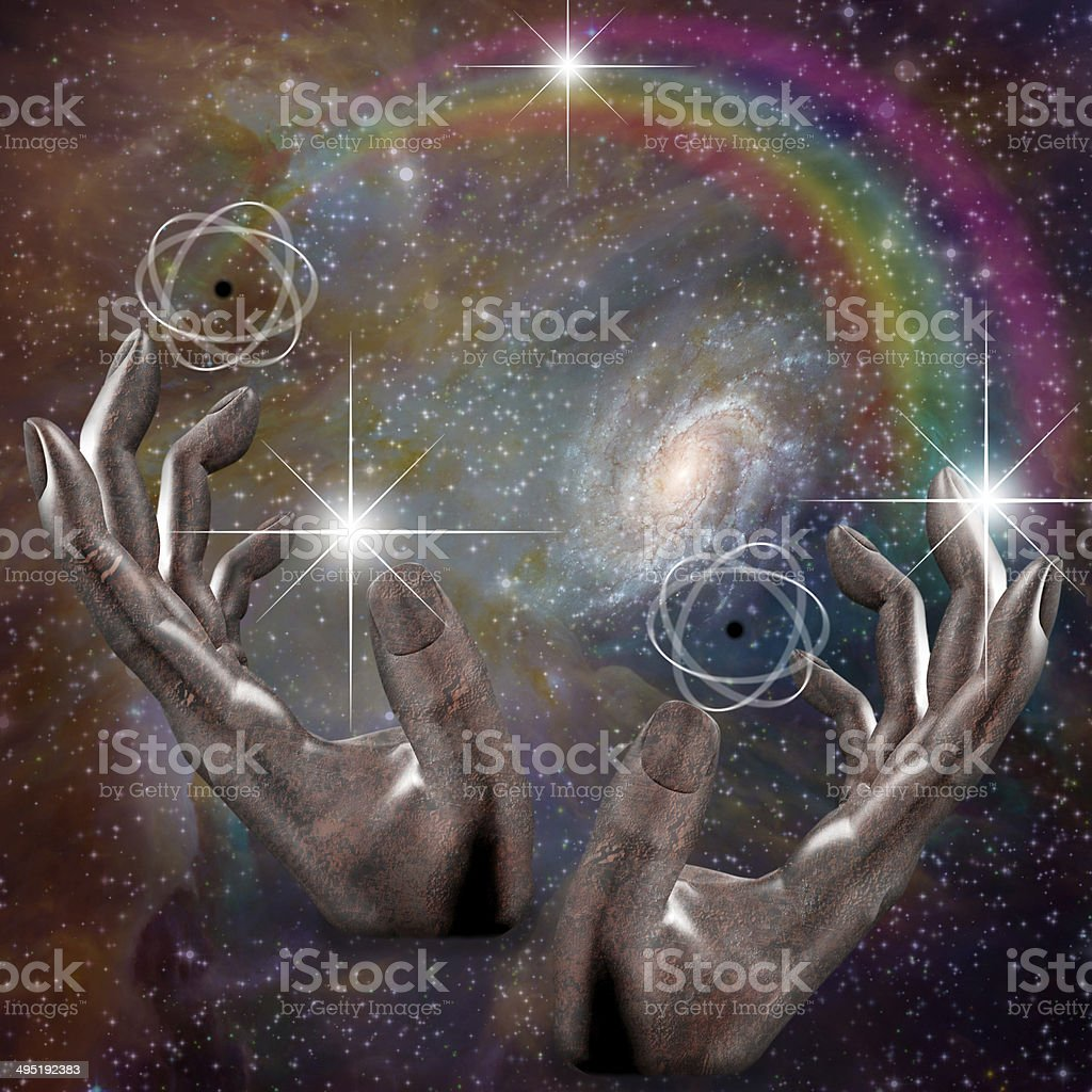 Manipulation of space time stock photo