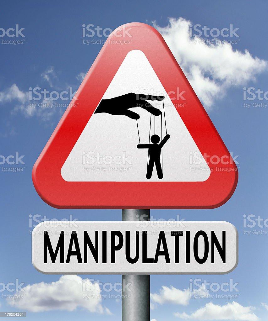 manipulation royalty-free stock photo