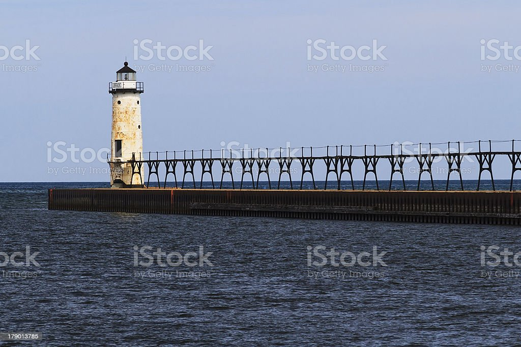 Manistee Faro sul lago Michigan foto stock royalty-free
