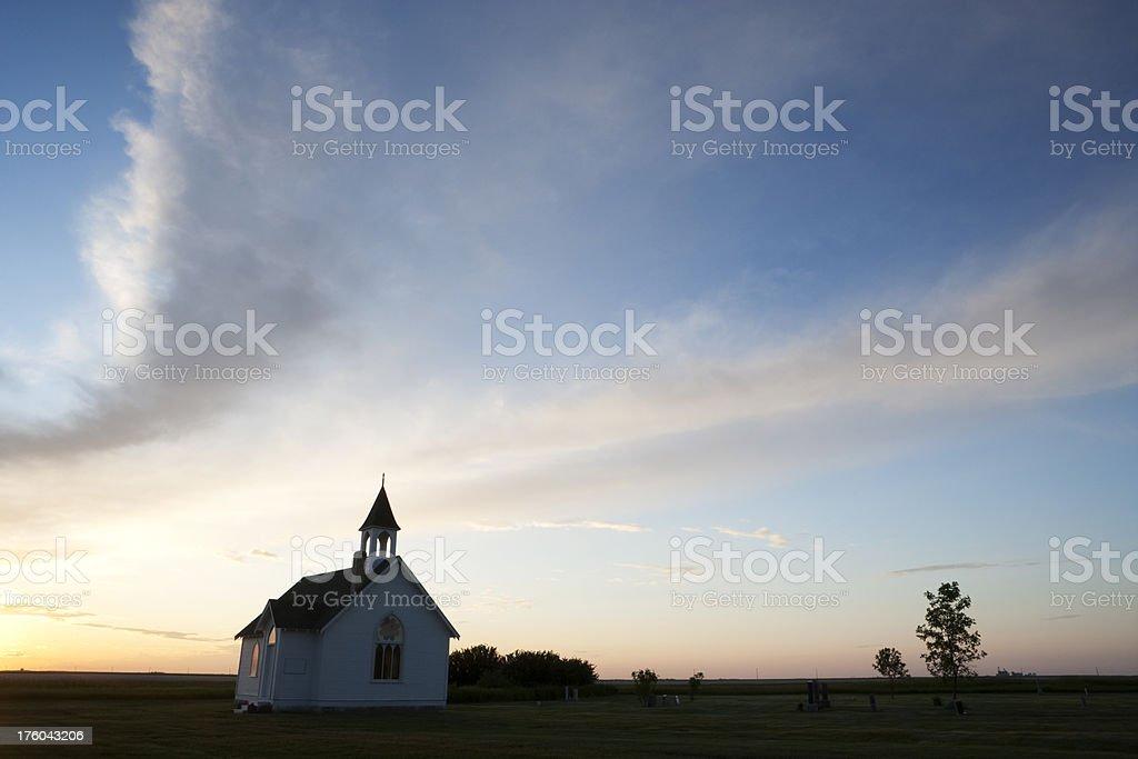 Manitoba Church royalty-free stock photo
