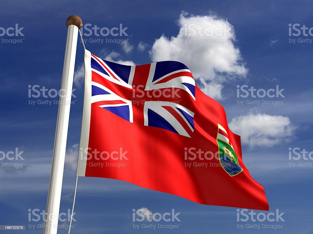 Manitoba flag Canada stock photo