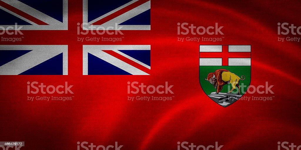 Manitoba Flag stock photo