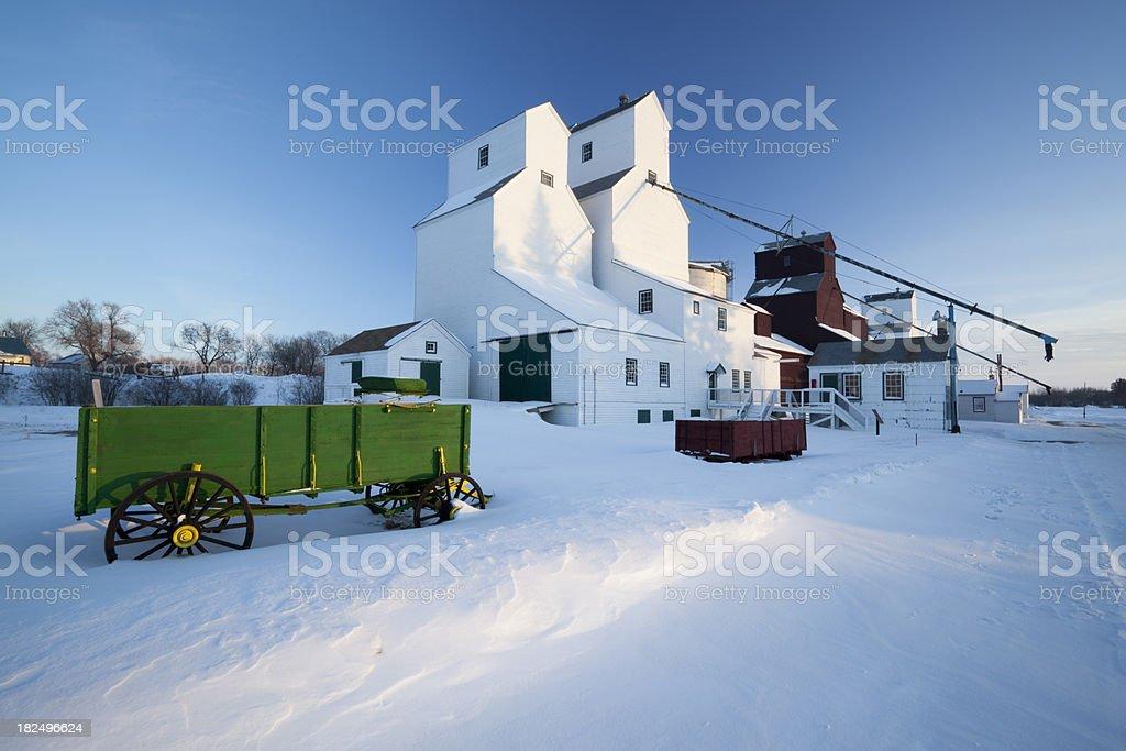 Manitoba Grain Elevators royalty-free stock photo
