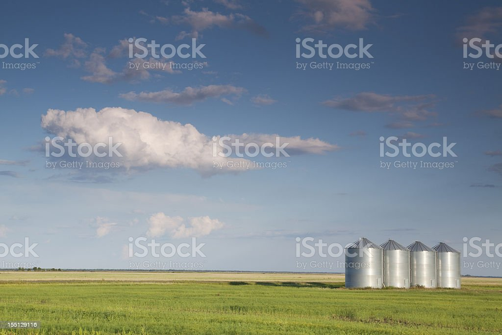 Manitoba Grain Storage royalty-free stock photo