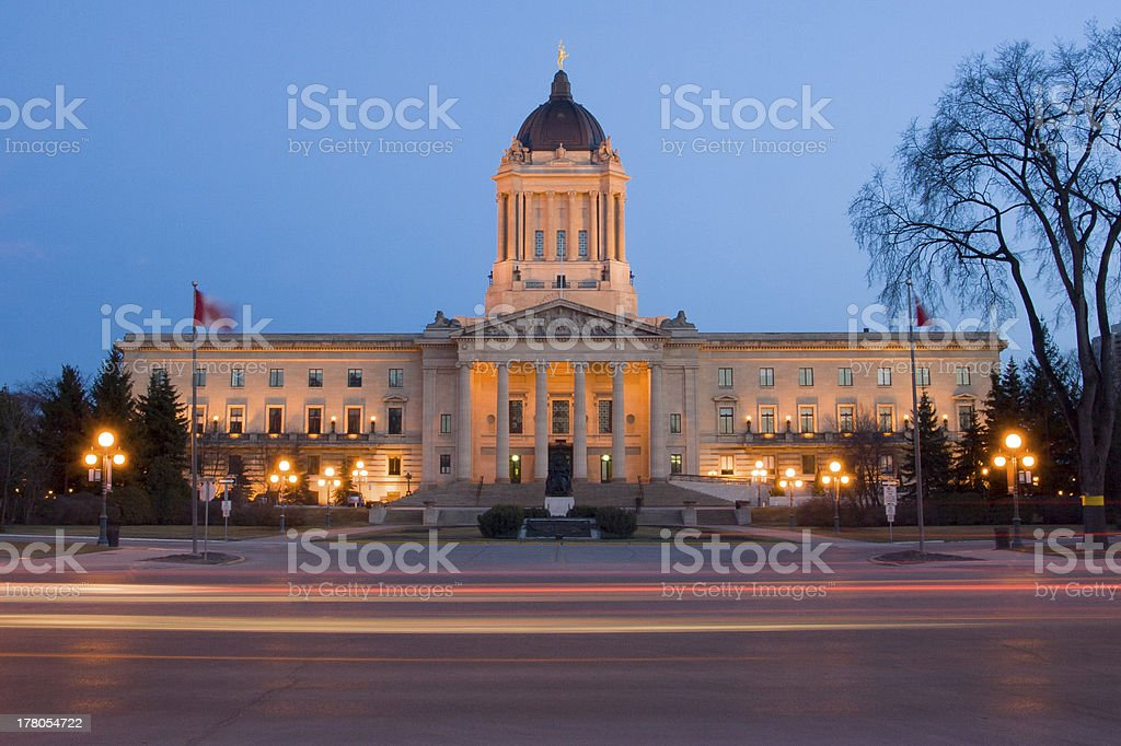 Manitoba Legislative Building royalty-free stock photo