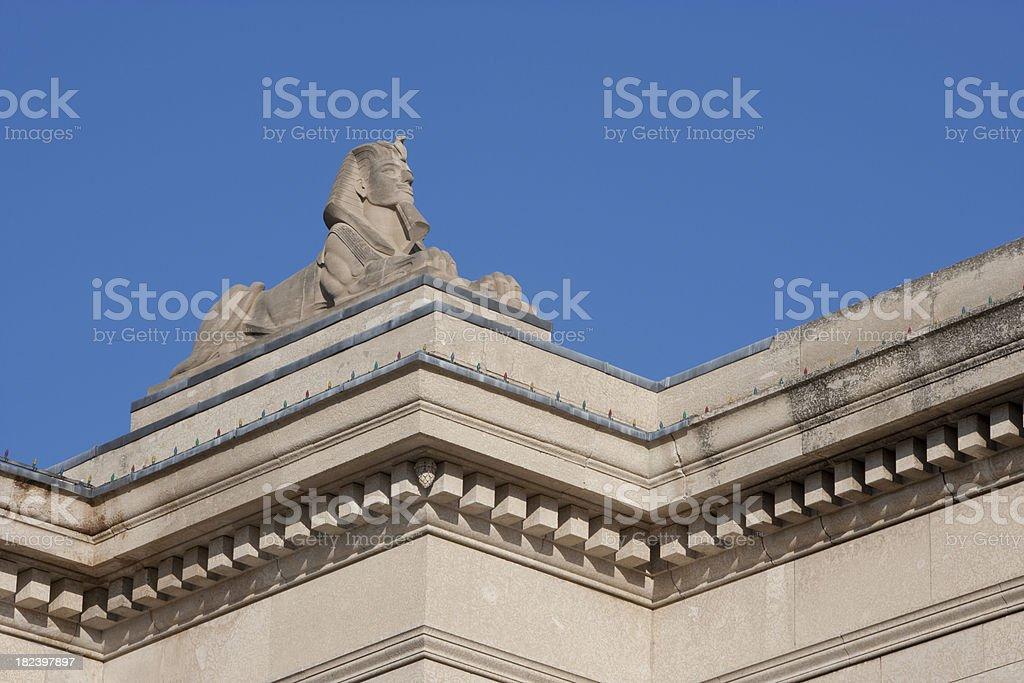 Manitoba Legislator building Spinx stock photo