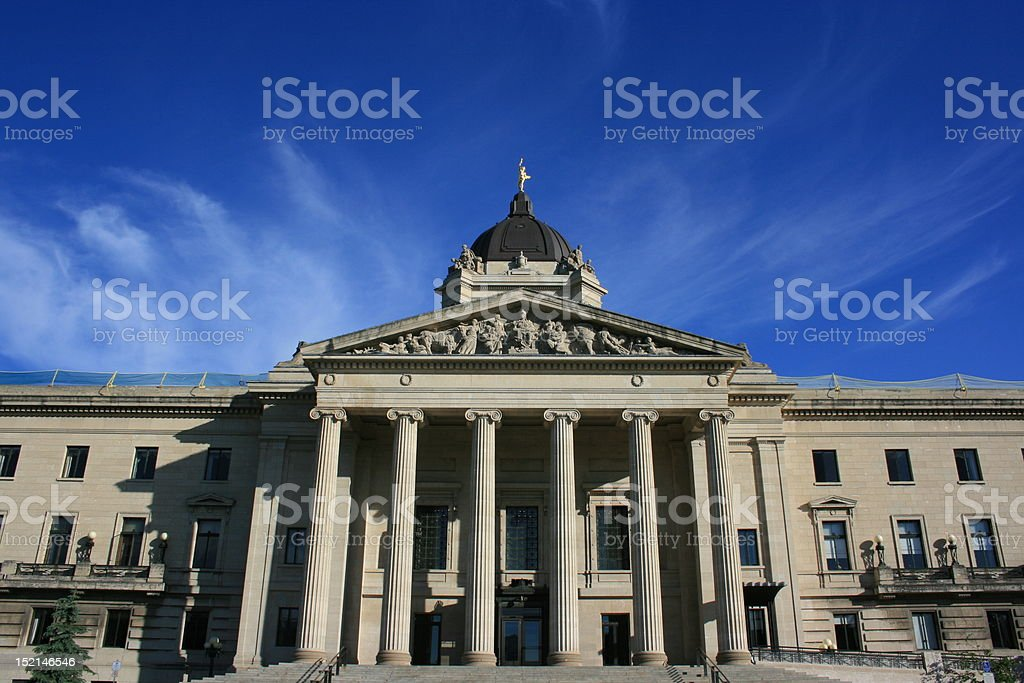 Manitoba Legislature royalty-free stock photo