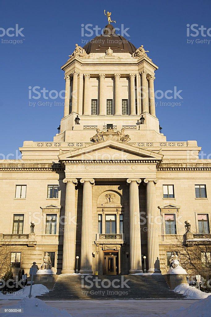 Manitoba Legislature Tower. royalty-free stock photo