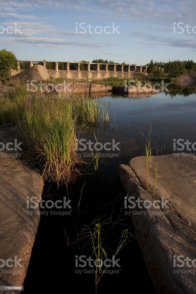 Manitoba Pinawa Dam stock photo