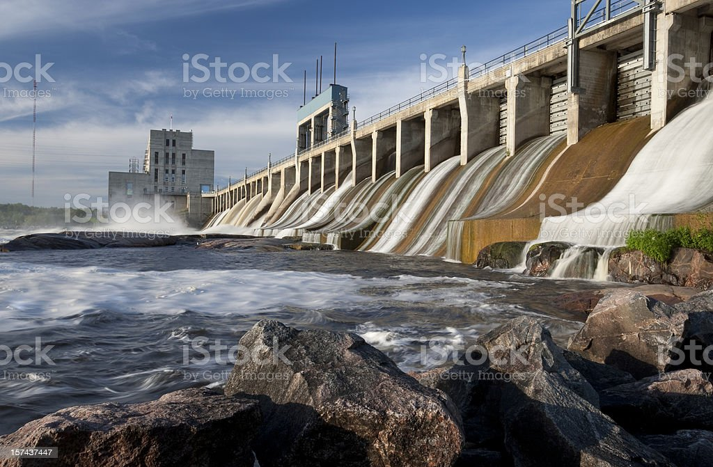 Manitoba  Seven Sisters Generating Station stock photo