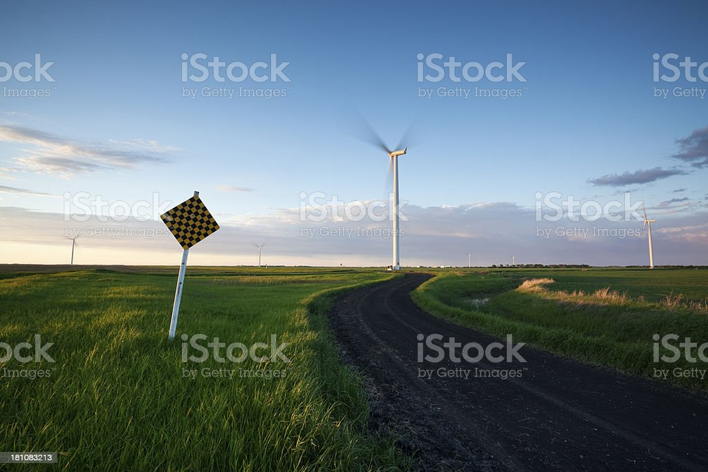 Manitoba Wind Power royalty-free stock photo
