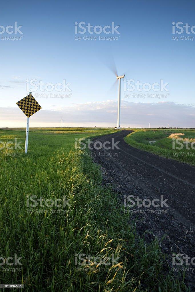 Manitoba Wind Power royalty-free stock photo