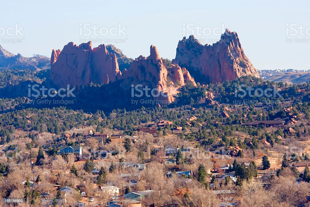 Manitou Springs and Garden of the Gods royalty-free stock photo
