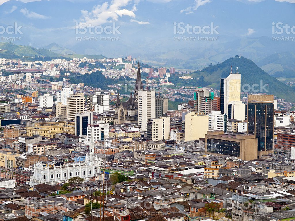 Manizales City View, Colombia royalty-free stock photo