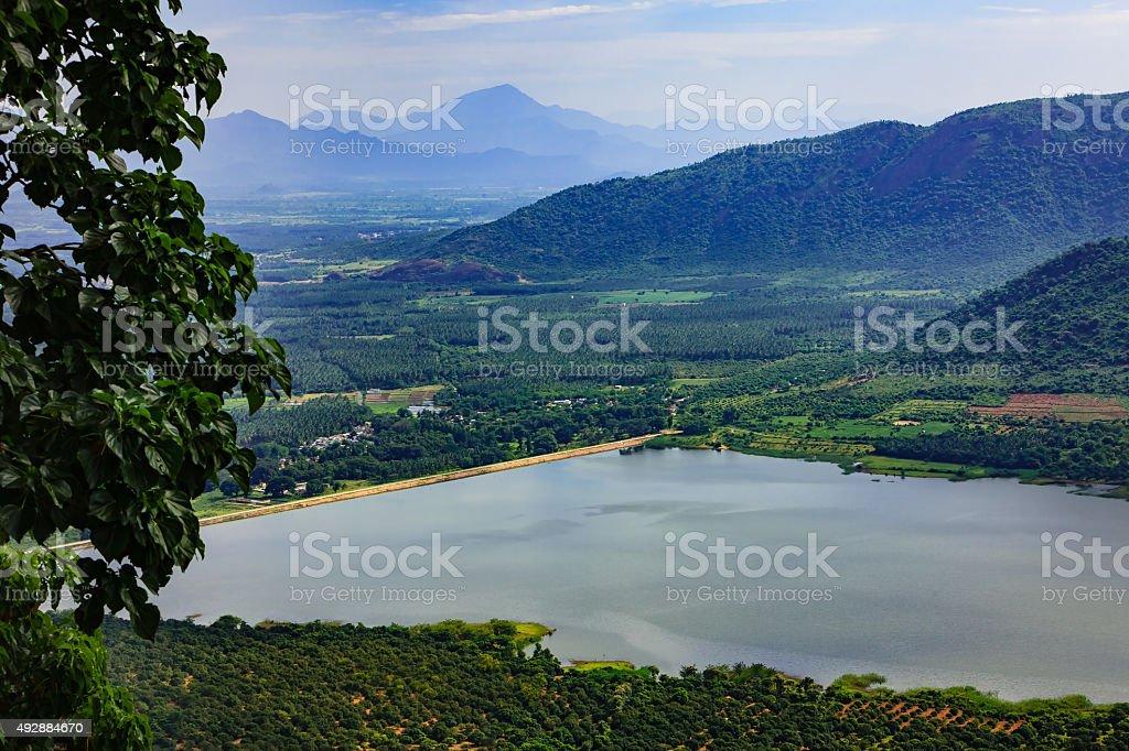 Manjalar Dam, Tamil Nadu, South India stock photo