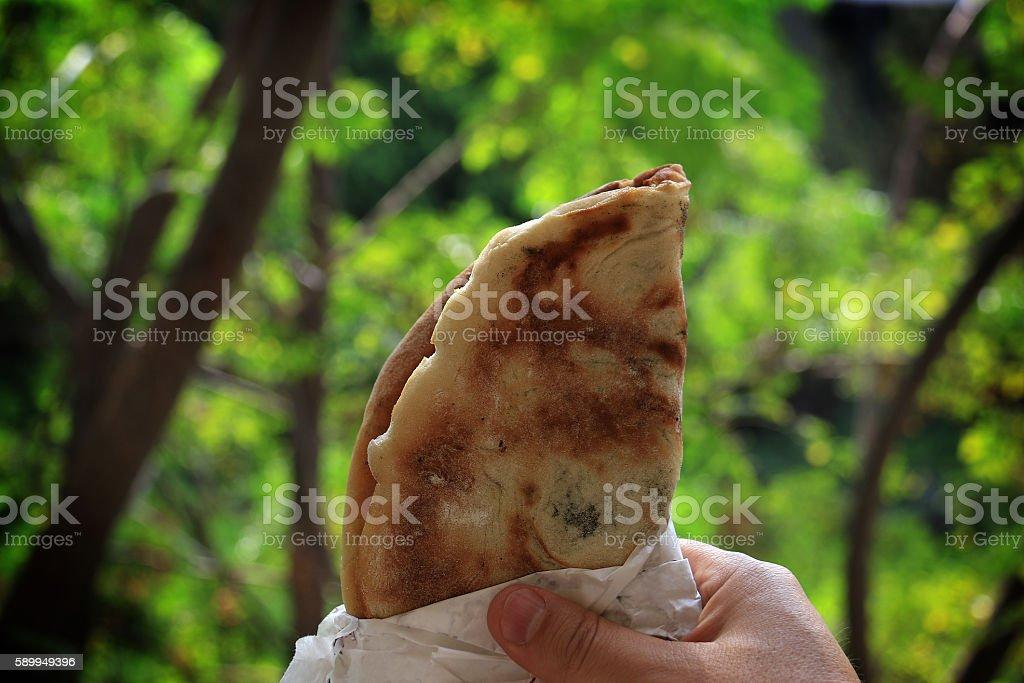 Mankousheh, Lebanese Breakfast stock photo