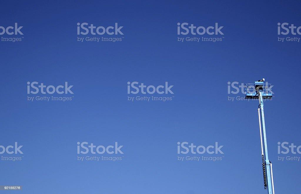Manlift stock photo