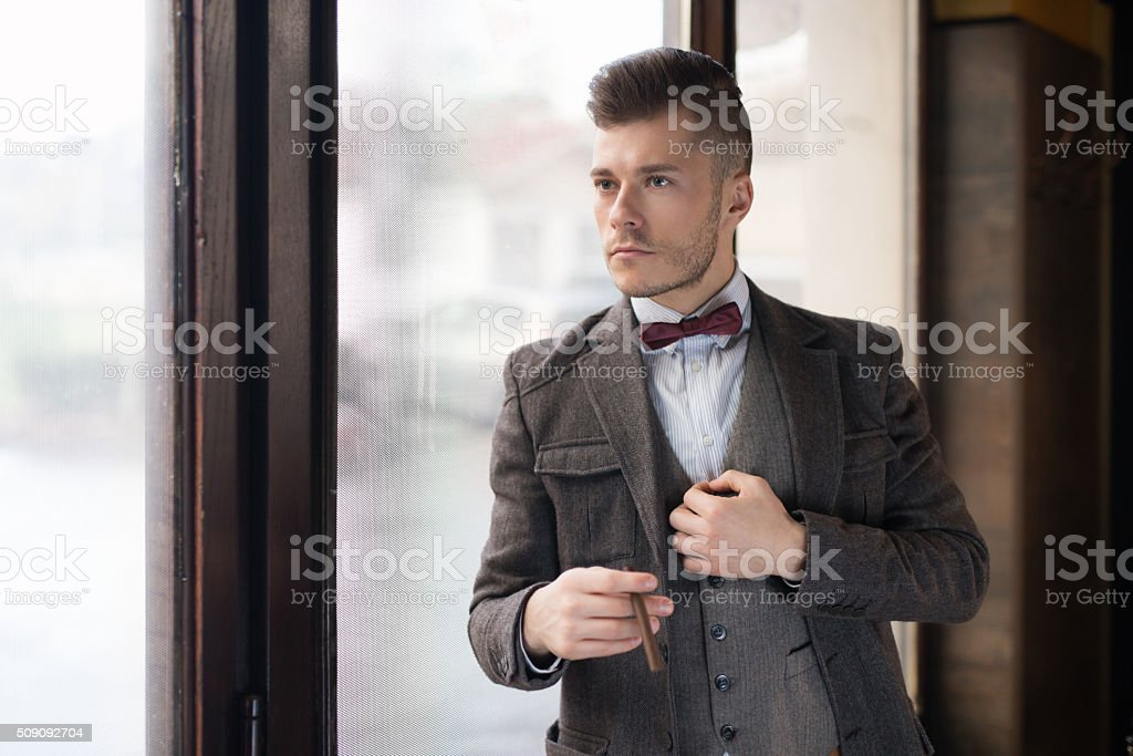 Manly And Sophisticated At The Same Time stock photo