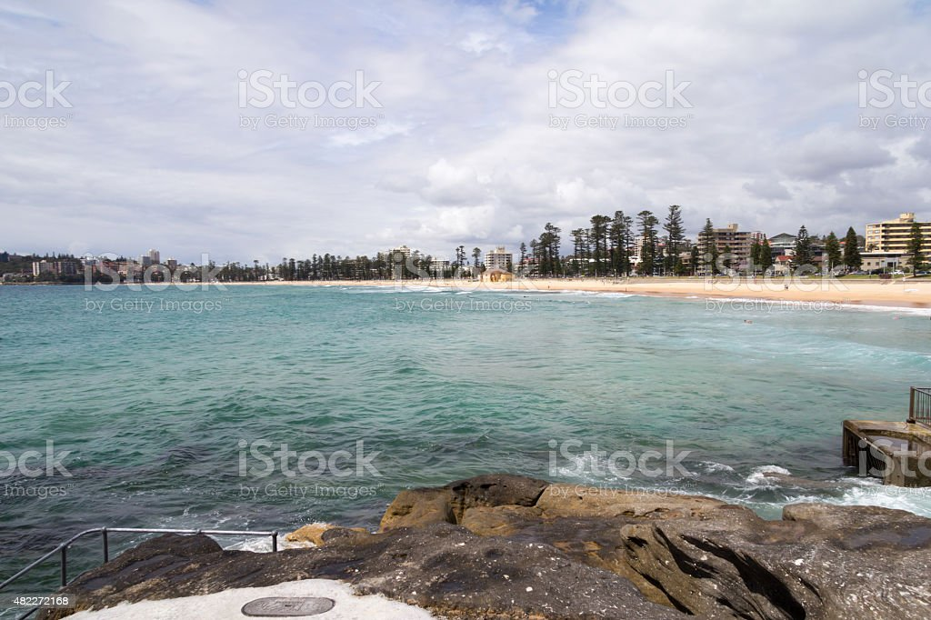Manly beach Qeenscliff stock photo