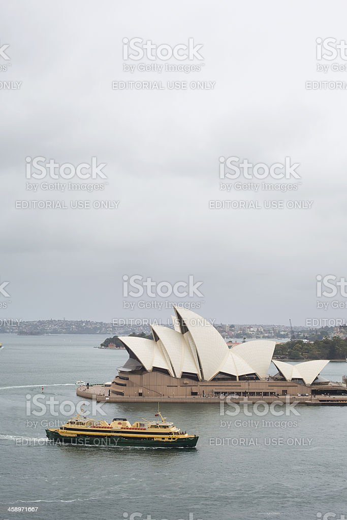 Manly Ferry and Sydney Opera House royalty-free stock photo