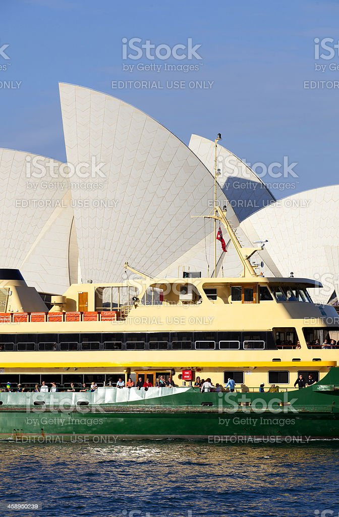 Manly Ferry & Sydney Opera House royalty-free stock photo