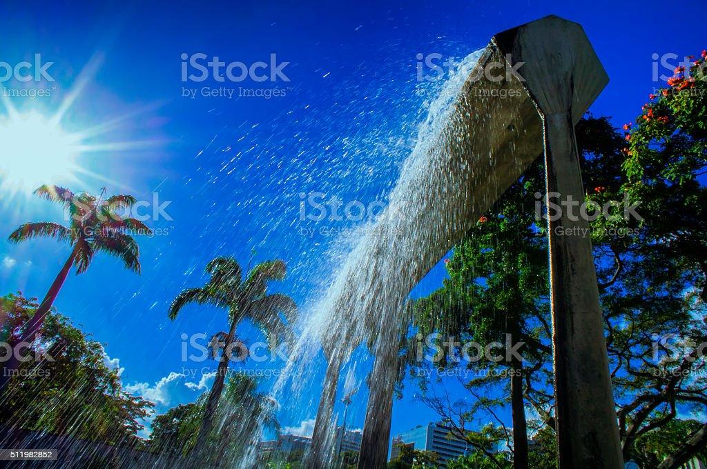 Man-made Waterfall stock photo